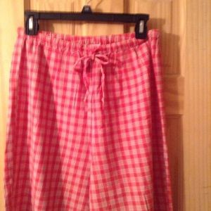 Old Navy red plaid lounge pants size small